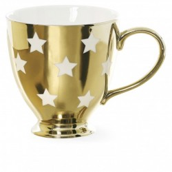 Tazza color oro con stelle...