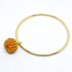 Bracciale anello con sfera...