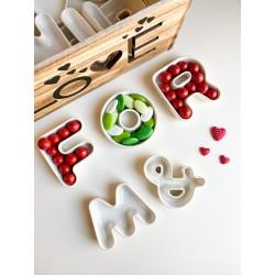 Lettere in Ceramica bianca