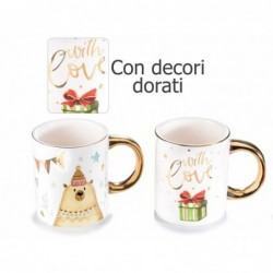 Tazza in ceramica c/decori...