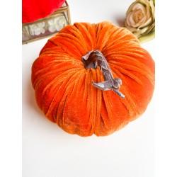 Zucca in velluto 18 cm Arancio