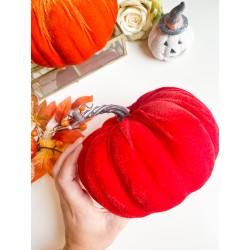 Zucca in velluto 18 cm Rossa