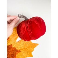 Zucca in velluto 15 cm rosso