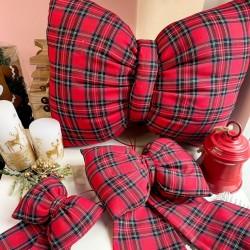 Cuscino fiocco tartan