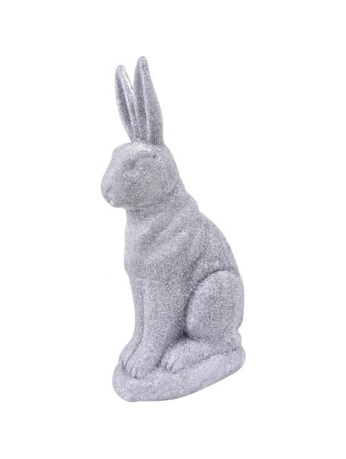Coniglio glitter argento in...