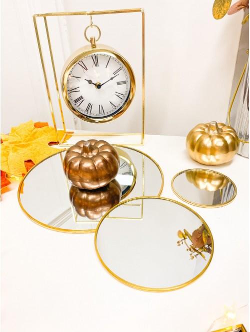Piatto specchio tondo oro 10cm