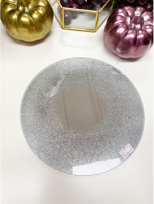 Piatto vetro argento...