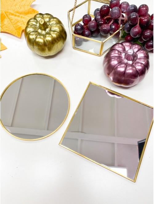 Piatto specchio oro 15cm